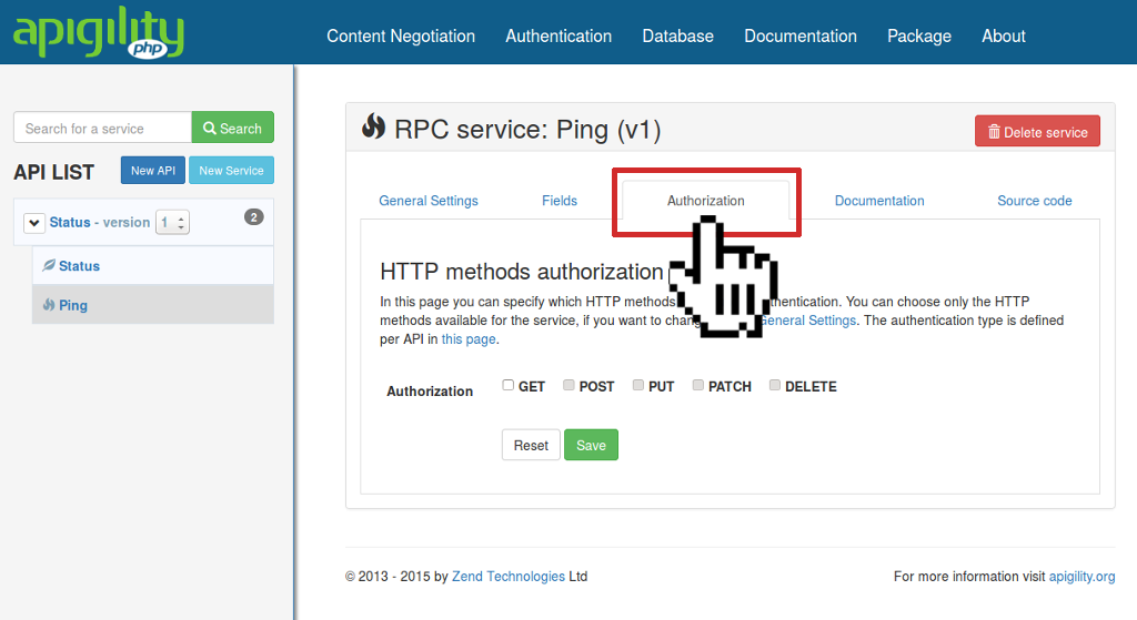 Authorization Settings RPC
